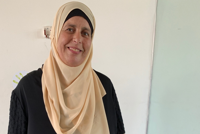 Aida, a breast patient from Abu Dis