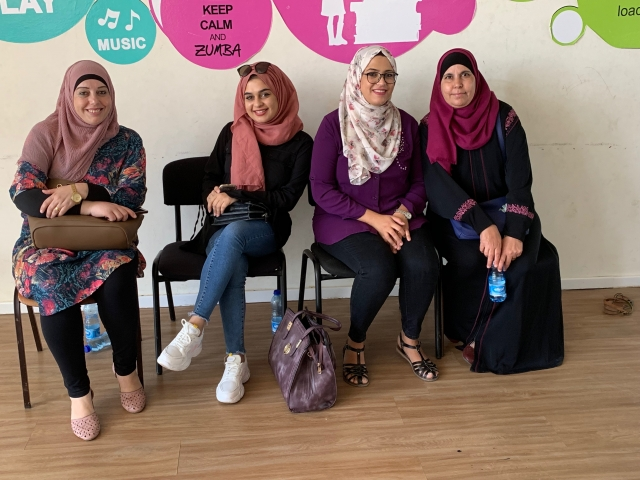 Members of Dunya's breast cancer survivors' group