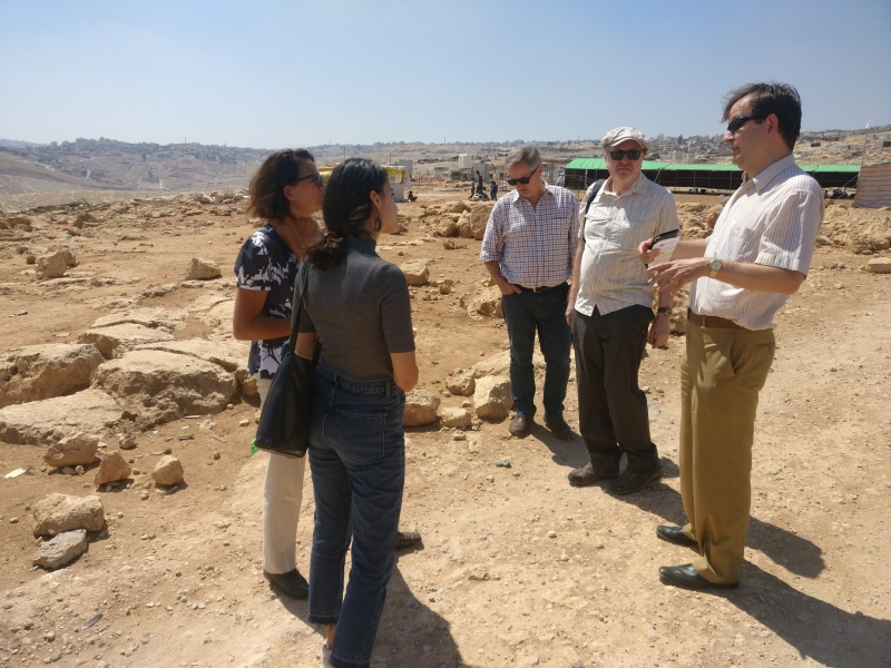 MPs learn about the community of Abu Nuwar and the challenges it faces