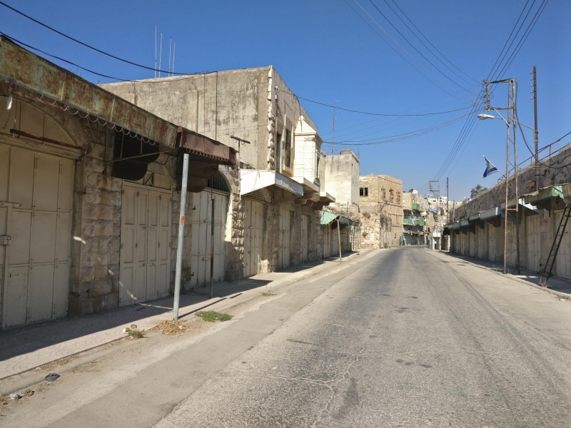 Shuhada Street in Hebron, now closed to Palestinian residents but not to Israeli settlers