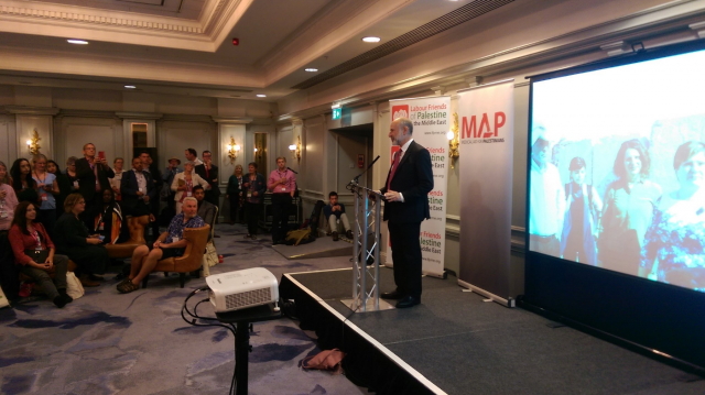 Fabian Hamilton MP told attendees of his party's commitment to recognise the State of Palestine
