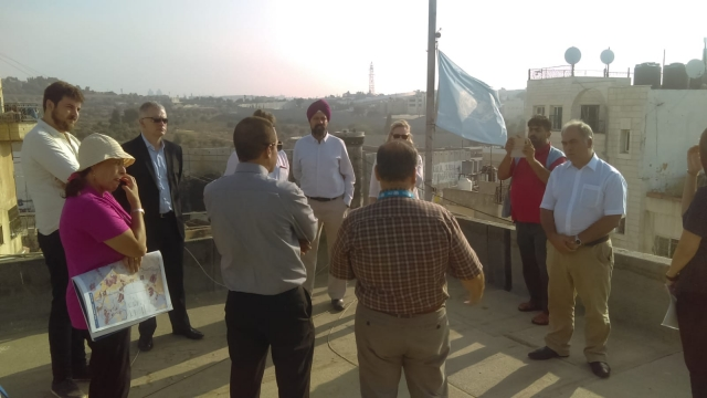 UNRWA giving a talk to the MPs in Aida Refugee Camp
