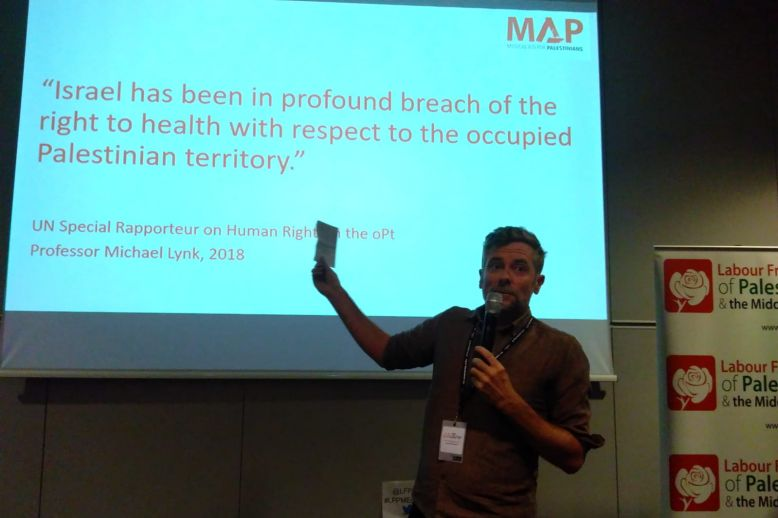 At Labour Party conference, MAP urges action on Israeli